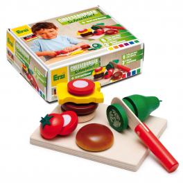 Erzi Holz-Schneidset Cheesburger für Kinder ab 3 Jahre