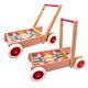 Lauflernwagen mit 61 bunten Holzbausteinen