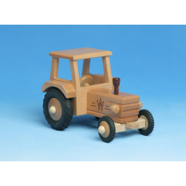 Holz-Traktor mit Dach für Kinder ab 2 Jahre