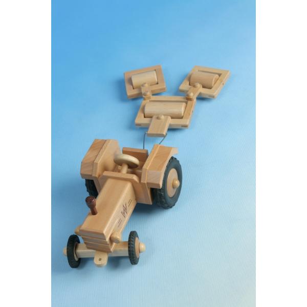 holzspielzeug werdauer traktor ohne dach f r kinder ab 2 jahre. Black Bedroom Furniture Sets. Home Design Ideas