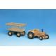 Werdauer Holz-Traktor (ohne Dach) für Kinder ab 2 Jahre