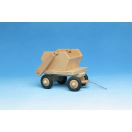 Holz Anhänger-Müll aus Holz für Kinder ab 3 Jahre