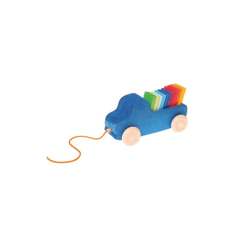 holzspielzeug grimm 39 s lastwagen zum nachziehen f r kinder ab 1 jahr. Black Bedroom Furniture Sets. Home Design Ideas