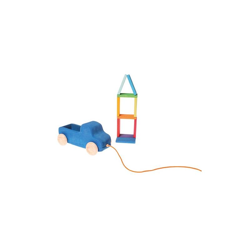 Holzspielzeug grimm s lastwagen zum nachziehen für kinder