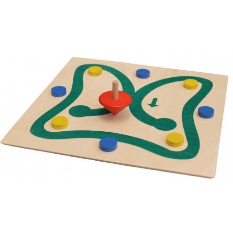 Erzgebirgische Holzspielwaren Ebert Kreiselrodeo für Kinder ab 3 Jahre