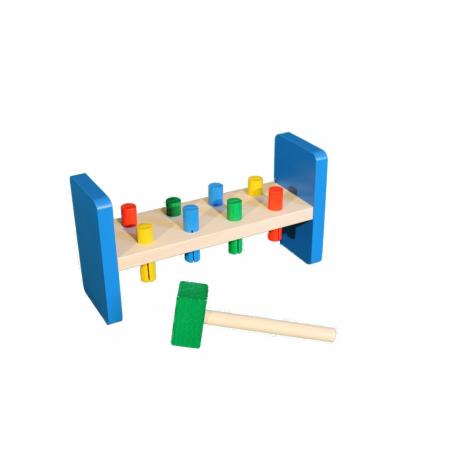 Erzgebirgische Holzspielwaren Ebert Klopfbank für Kinder ab 1 Jahr
