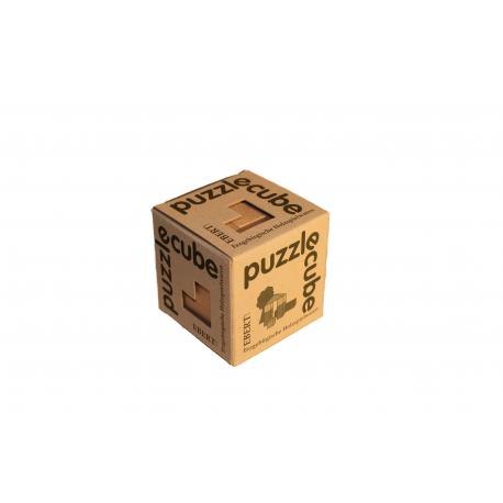 Erzgebirgische Holzspielwaren Ebert Puzzle cube, natur für Kinder ab 4 Jahre
