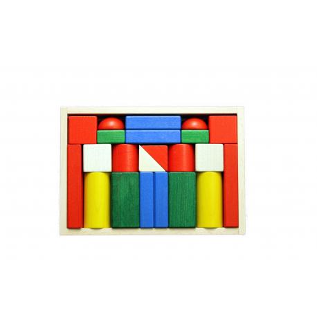 Ebert Holzbaukasten-22 große Blöcke farbig für Kinder ab 1 Jahr
