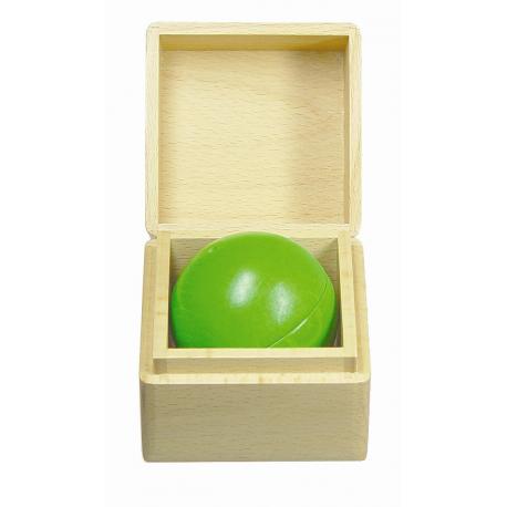 Klingende Holzkugel, grün für Kinder ab 1 Jahr