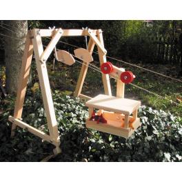 Holz-Stütze zur großen Puppengondel für Kinder ab 8 Jahre