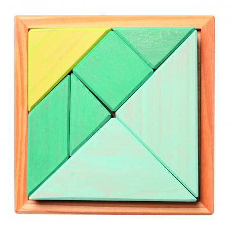 holzspiel tangram t rkis f r kinder ab 4 jahre. Black Bedroom Furniture Sets. Home Design Ideas