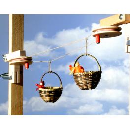 Körbchenseilbahn Grundkasten für Kinder ab 4 Jahre