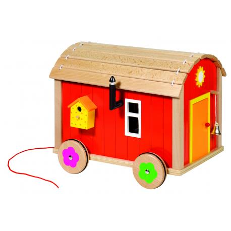Holz Puppenbauwagen für Kinder ab 3 Jahre
