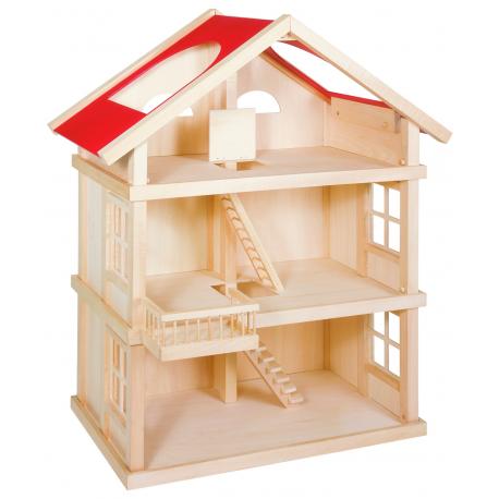 Holz Puppenhaus, 3 Etagen für Kinder ab 3 Jahre