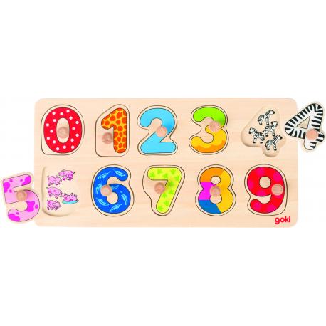 Holz Puzzle-Lerne zählen, 10-teilig für Kinder ab 2 Jahre