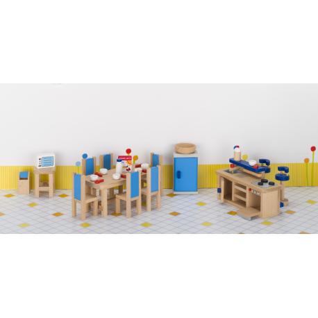 Holz Puppenstubenmöblel Küche für Kinder ab 3 Jahre