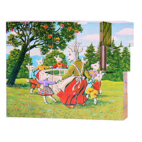 Holz Würfelpuzzle Märchen für Kinder ab 3 Jahre