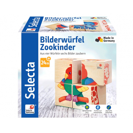 Holz Bilderwürfel Zoo für Kinder ab