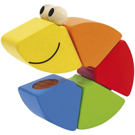 Holz Klettwurm - Freddi für Kinder ab 1,5 Jahre