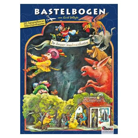 Bastelbogen Bremer Stadtmusikanten