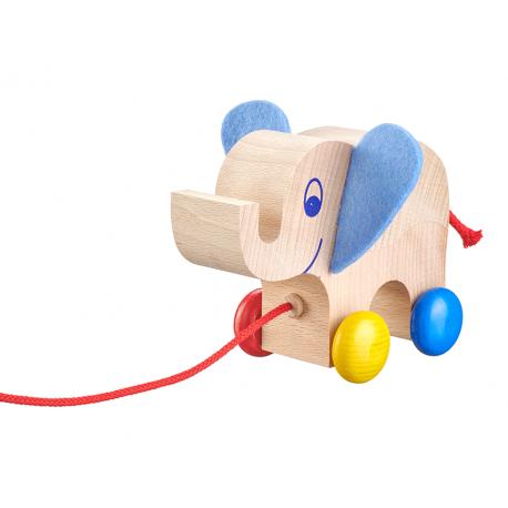 Holz Nachzieh-Elefant für Kinder ab 1 Jahr