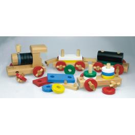 Holz Eisenbahn (zerlegbar) für Kinder ab 3 Jahre