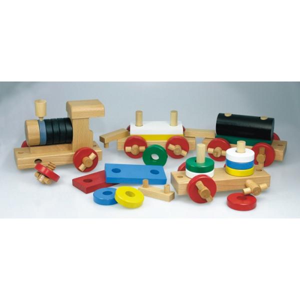holzspielzeug zerlegbare eisenbahn f r kinder ab 3 jahre. Black Bedroom Furniture Sets. Home Design Ideas