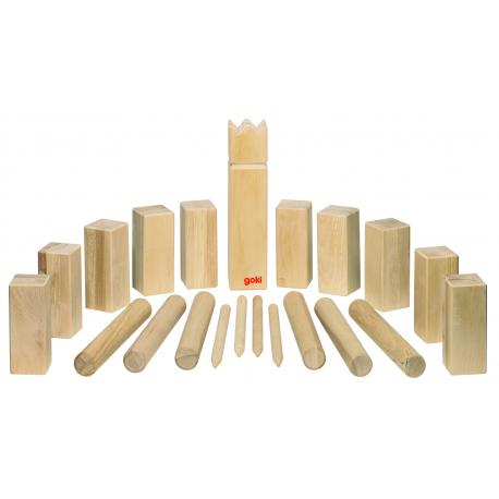 Holz KUBB, Wikingerspiel für Kinder ab 6 Jahre