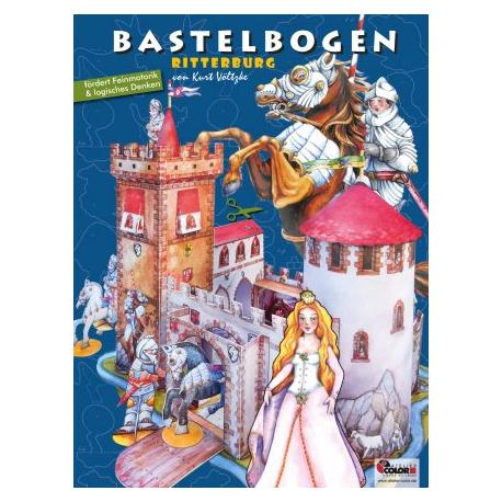 """Bastelbogen """"Ritterburg"""" für Kinder ab 5 Jahre"""