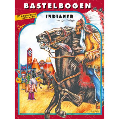 """Bastelbogen """"Indianer"""" für Kinder ab 5 Jahre"""