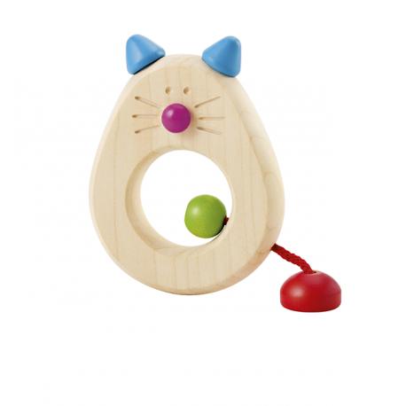 Holz Greifring Katze für Kinder ab 0 Jahre