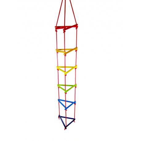 Holz Dreiecks-Strickleiter, bunt für Kinder ab 3 Jahre