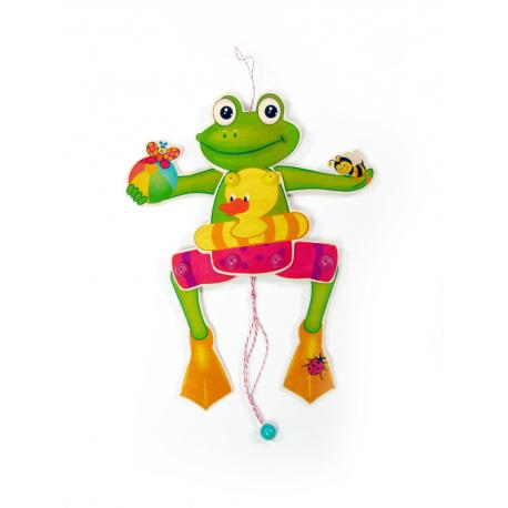 """Holz Hampelmann """"Frosch"""" für Kinder ab 3 Jahre"""