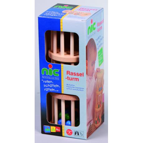 Holz Rasselturm für Kinder ab 1 Jahr