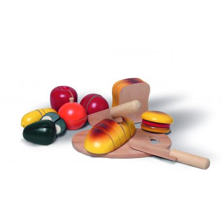 Holz Jumbo-Frühstück für Kinder ab 2 Jahre