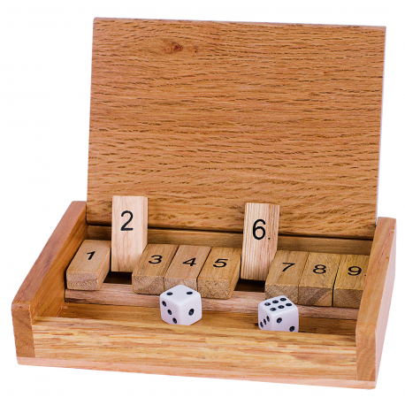 Holz Additionsspiel-Shut the box - für Kinder ab 6 Jahre