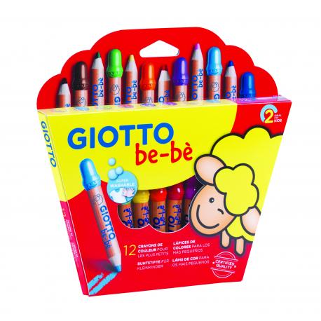 Giotto be-bé Buntstifte (12 Stück) für Kinder ab 2 Jahre