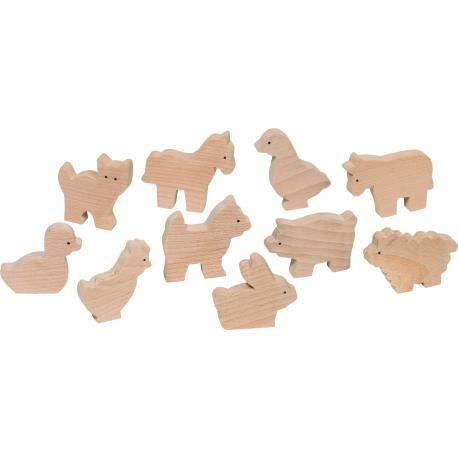 Holz Bauernhoftiere für Kinder ab 3 Jahre