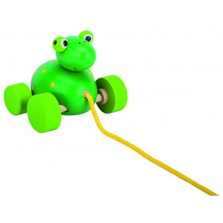 Holz Ziehtier Frosch für Kinder ab 1 Jahr