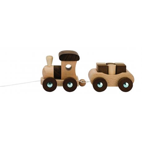 Holzzug Vancouver mit 6 Bausteinen für Kinder ab 2 Jahre