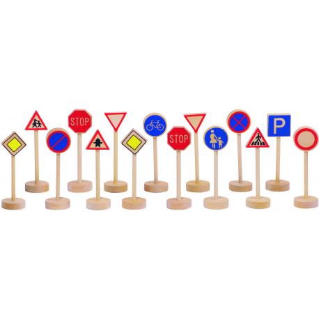 Holz Verkehrszeichen für Kinder ab 3 Jahre