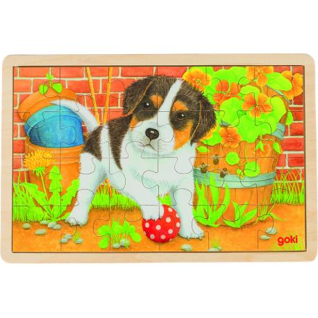 Holz Puzzle - Kleiner Hund für Kinder ab 3 Jahre