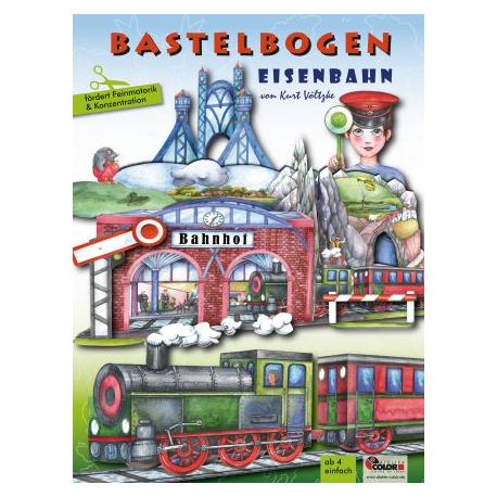 Bastelbogen Eisenbahn für Kinder ab 4 Jahre