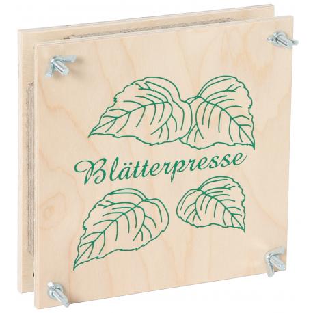 Holz Blätterpresse