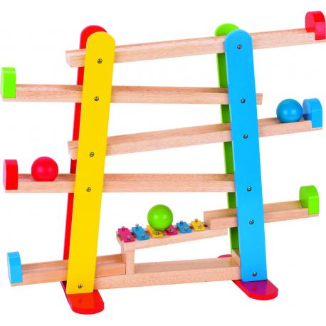 Holz Kugelbahn mit Xylophon für Kinder ab 2 Jahre