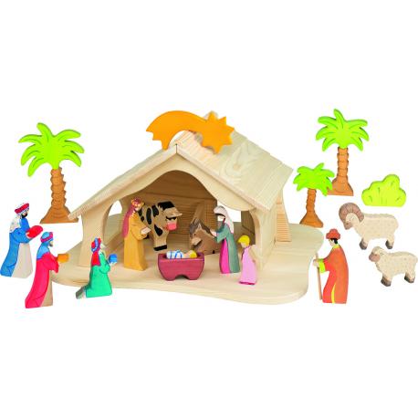 Holz Puppenhaus für Kinder ab 3 Jahre