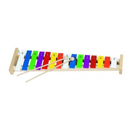 Metall-Xylophon mit Notenheft für Kinder ab 3 Jahre