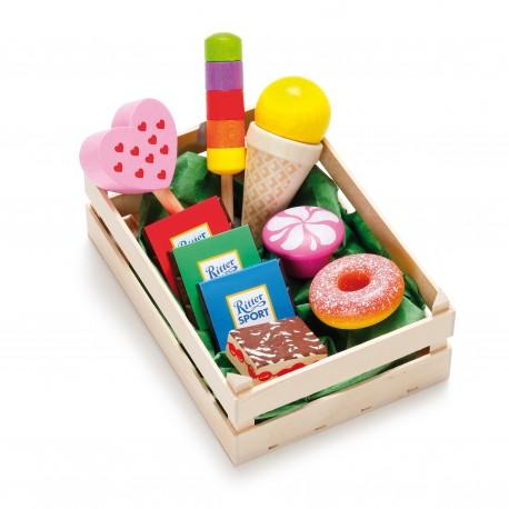 Holz Sortiment Süßwaren für Kinder ab 3 Jahre