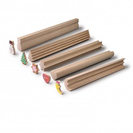 Holz Bastelleisten Weihnachten für Kinder ab 4 Jahre