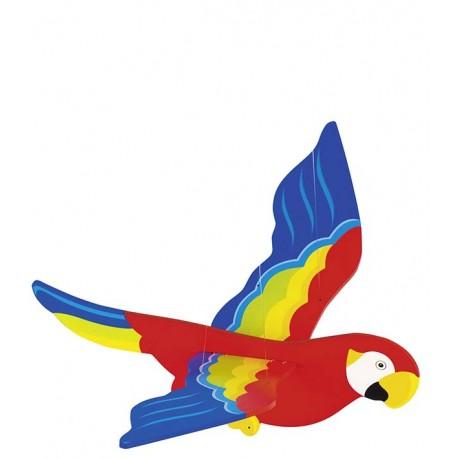 Holz Schwingfigur Papagei
